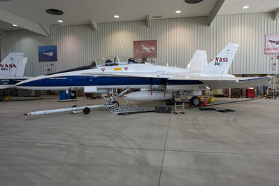 NASA Dryden Research Center (Edwards Air Force Base, CA). NASA 846 in the main hangar.