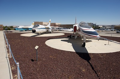 Edwards Air Force Base. Aircrafts on static display at NASA Dryden.