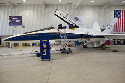 NASA Dryden Research Center (Edwards Air Force Base, CA). NASA 852 in the main hangar.