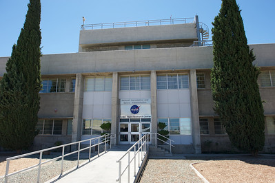 Edwards Air Force Base. NASA Dryden Flight Research Center main building entrance.