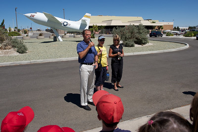 Edwards Air Force Base. Astronaut Robert L. Gibson visits NASA Dryden and spends some time with us.