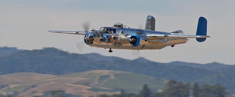 Photo pass -- B-25-- Wings Over the Wine Country 2007.