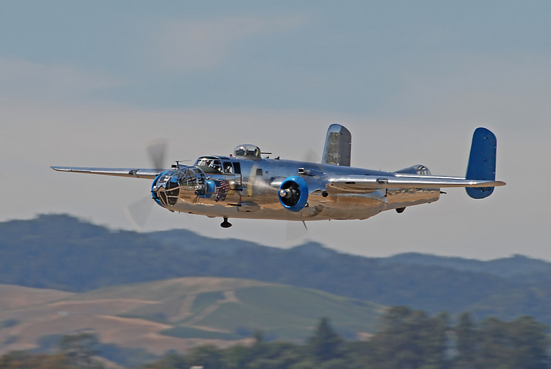 """B-25 """"Old Glory"""" from the 2007 PCAM Wine Country show in Santa Rosa."""