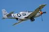 """La Ferté-Alais 2010. North American P-51D """"Mustang"""" au décollage."""