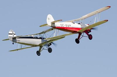 """Fête aérienne de Cerny - La Ferté-Alais. """"Le temps des hélices 2012"""". Focke-Wulf Fw 44J """"Stieglitz """"."""