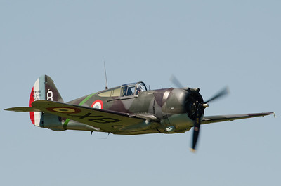"""Fête aérienne de Cerny - La Ferté-Alais. """"Le temps des hélices 2012"""".  Curtiss H75 Hawk."""