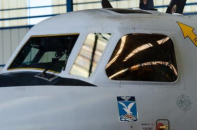 Visite de la BANN LAN-BIHOUÉ organisée pour l'association Spot'Air.  Flottille 4F - Grumman E-2C Hawkeye.