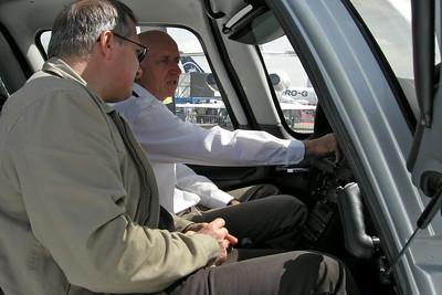 Le Bourget 2007 - Christophe visite...