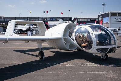 """Salon du Bourget 2015. Le curieux Edgley EA7 """"Optica"""", qui vola pour la première fois en 1979 et qui va peut-être (enfin !) entrer en production."""