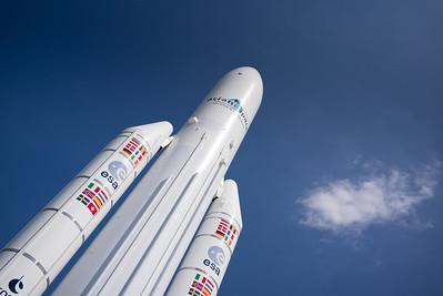Salon du Bourget 2015. La fusée Ariane 5 du musée de l'air.