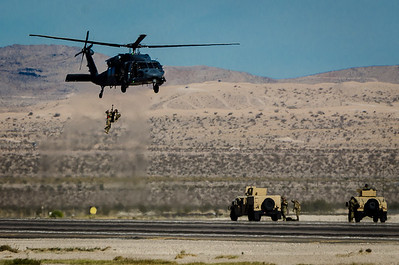 HH-60 Pave Hawk Helicopter - Simulated Extraction of Downed Pilot