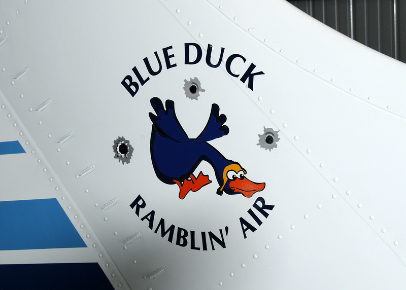 Gary takes me up in the infamous Blue Duck to take shots of the even from the air -- thanks Gary!