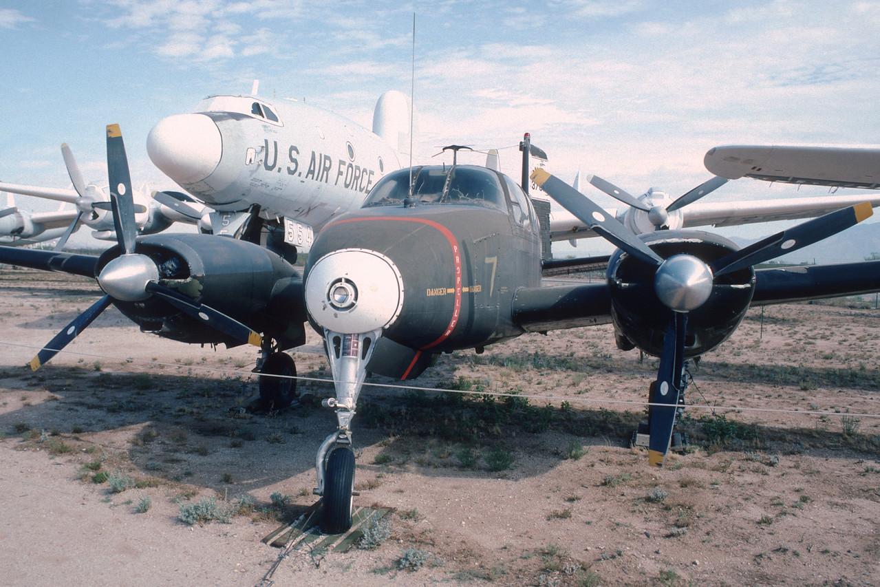 "Pima Air & Space Museum, circa 1988. Beechcraft U-8D ""Seminole""."