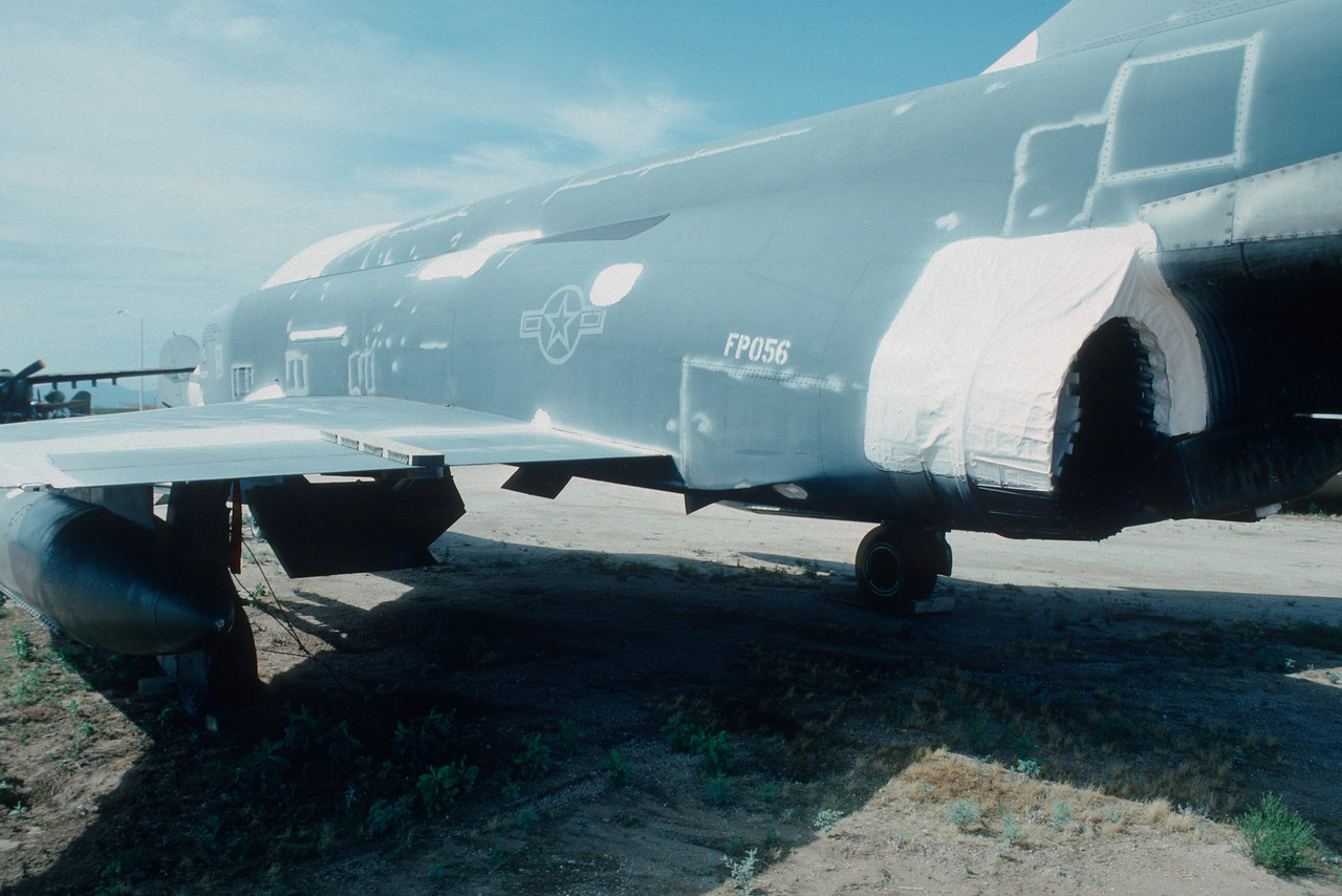"Pima Air & Space Museum, circa 1988. Mc Donnell F-4 ""Phantom II""."