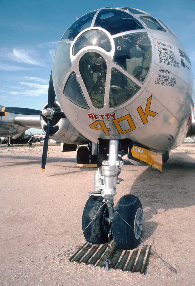"Pima Air & Space Museum, circa 1988. Boeing B-29 ""Superfortress""."