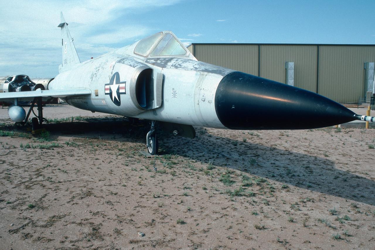"Pima Air & Space Museum, circa 1988. Convair F-102 ""Delta Dagger""."