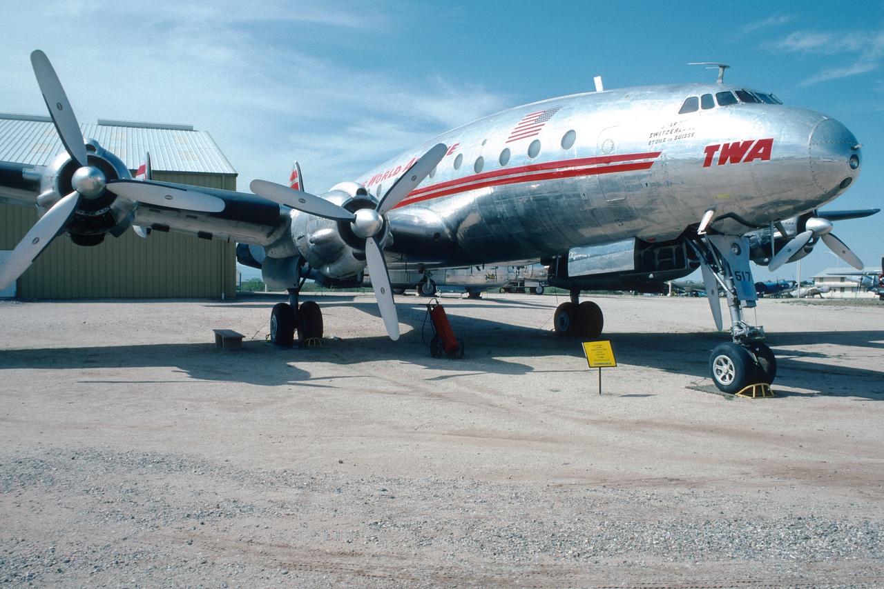"Pima Air & Space Museum, circa 1988. Lockheed ""Constellation""."