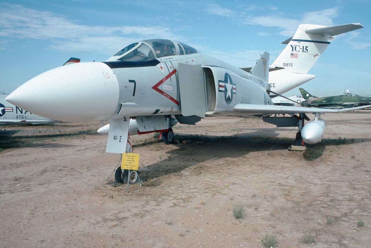 "Pima Air & Space Museum, circa 1988. Mc Donnell YF-4J ""Phantom""."