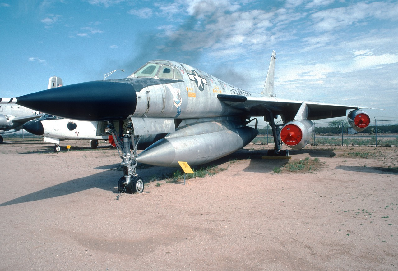 "Pima Air & Space Museum, circa 1988. Convair B-58 ""Hustler""."