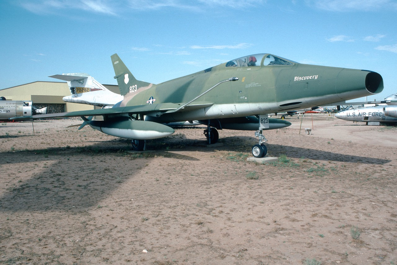"Pima Air & Space Museum, circa 1988. North American F-100 ""Super Sabre""."