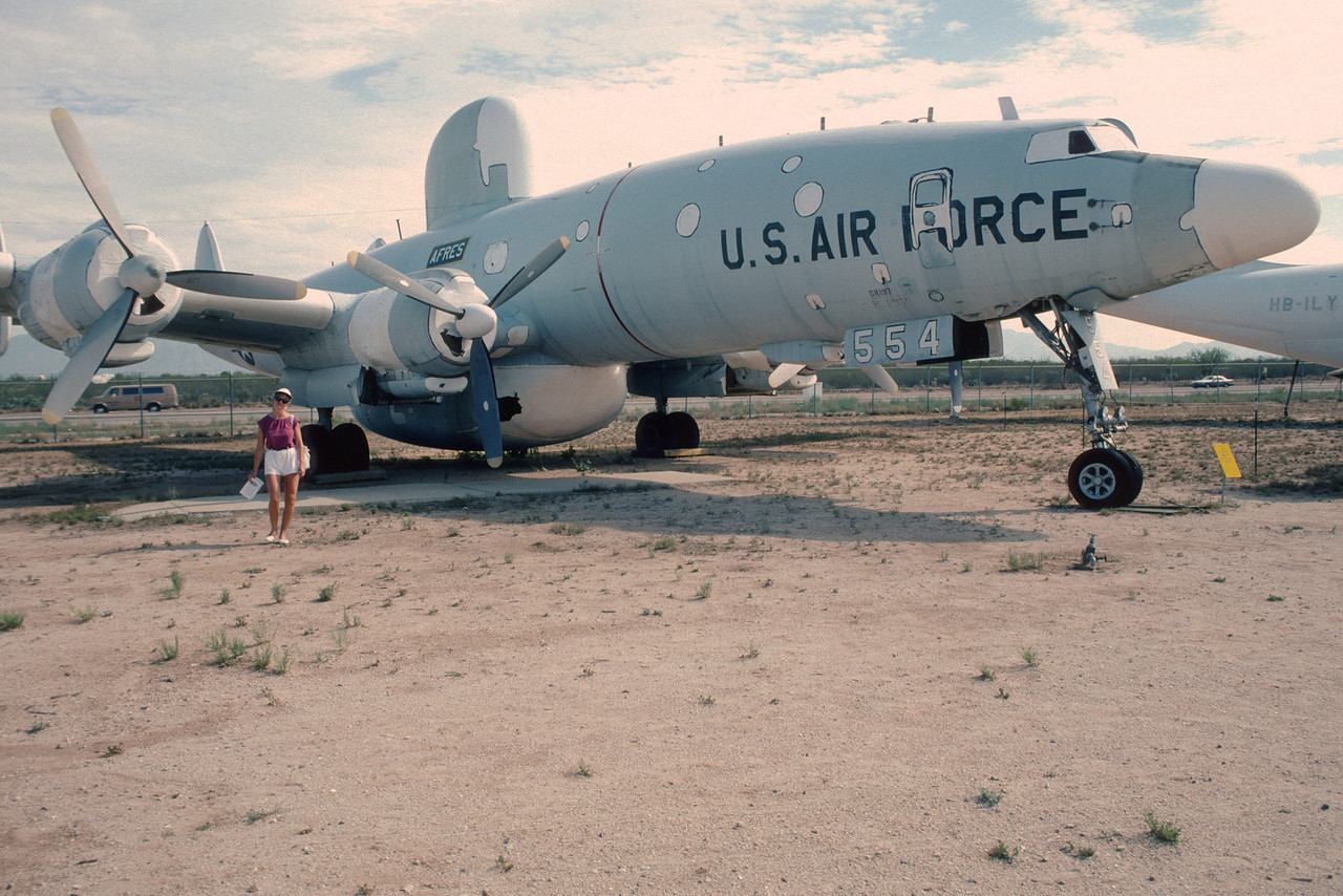 "Pima Air & Space Museum, circa 1988. Lockheed EC-121T ""Constellation""."
