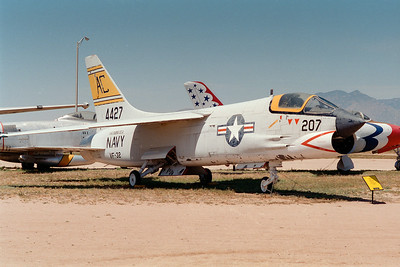Pima Air & Space Museum, circa 1995. Vought F-8 Crusader.