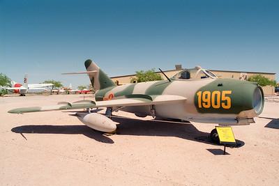 Pima Air & Space Museum, circa 1995. Mig 17F.