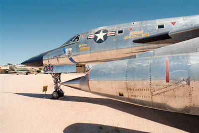 Pima Air & Space Museum, circa 1995. Convair B-58 Hustler.