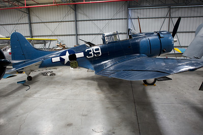 Plane of Fame Museum, Chino, CA. Douglas SBD-5 Dauntless.