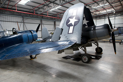 Planes of Fame Museum, Chino, CA. Chance Vought F4U-1A Corsair.