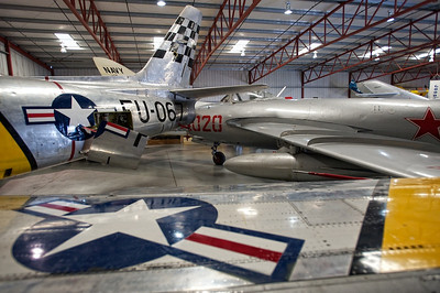 North American F-86 and Mikoyan-Gurevich MIG-17