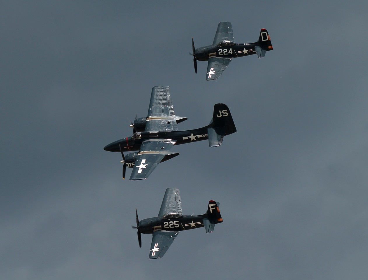 Two F8F Bearcats and an F7F Tigercat