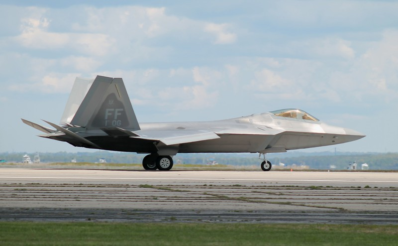 This F-22 is from the 1st Operations Group at Langley Air Force Base, Va. The 1st OG is the oldest major air combat unit in the United States Air Force, formed in May 1918.