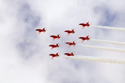 Red Arrows Shuttle Formation