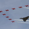 Avro Vulcan B2 & The Red Arrows - BAe Hawk T1/T1As (Royal Air Force Aerobatic Team)