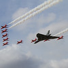 Avro Vulcan B2 & The Red Arrows - BAe Hawk T1/T1A (Royal Air Force Aerobatic Team)