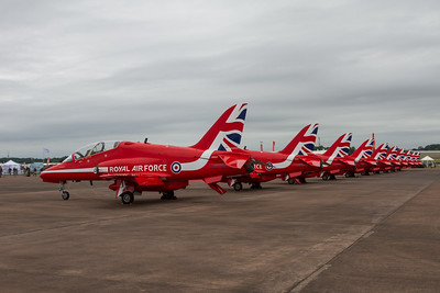 The Red Arrows - BAe Hawk T1/T1As (Royal Air Force Aerobatic Team)