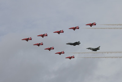 The Red Arrows - Lockheed Martin F 35b Lightning II -  Eurofighter Typhoon FGR4
