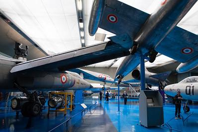 Musée de l'Air, juin 2011. SO 9050 Trident, Mirage G8 nº01, Mirage IIIA, Griffon II  et Mystère IVA.