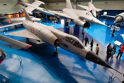 Musée de l'Air, juin 2011. Mirage IIIV nº01, Griffon, Trident, Mystère IV, etc.