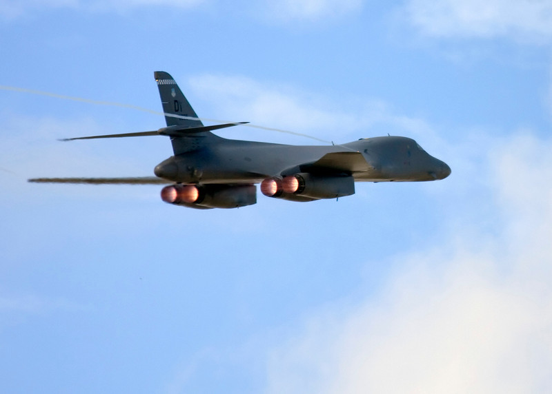 B-1 bomber doing a fly by