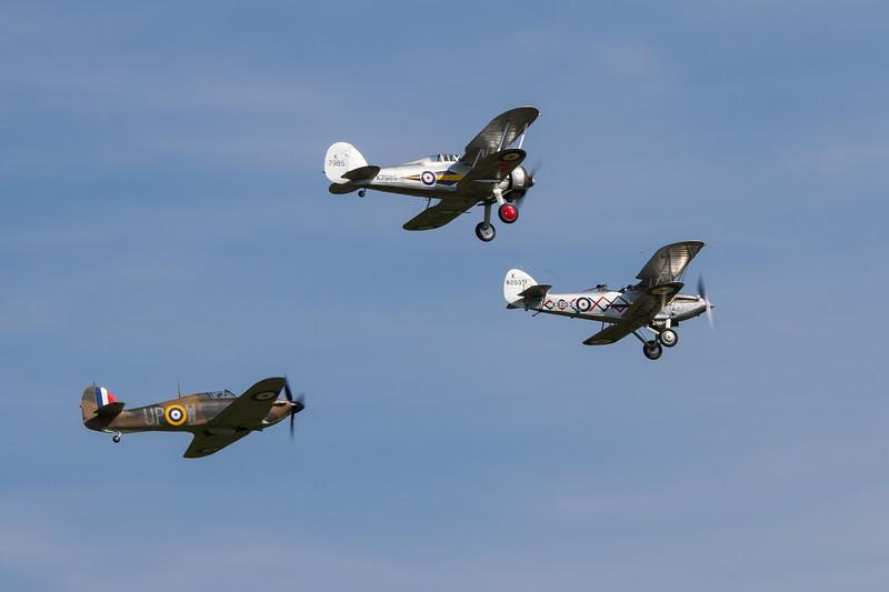 1940 - Hawker Hurricane mk1 & 1937 - Hawker Demon & 1938 - Gloster Gladiator