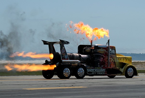 """""""Shockwave"""" Jet Truck at RIANG Airshow 5-30-2015"""