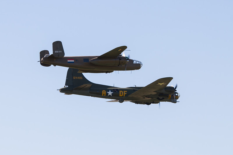 "1945 - Boeing B-17G Flying Fortress ""Sally-B"" & 1944 - North American B 25N Mitchell ""Sarinah"" (Royal Netherlands Air Force Historic Flight)"