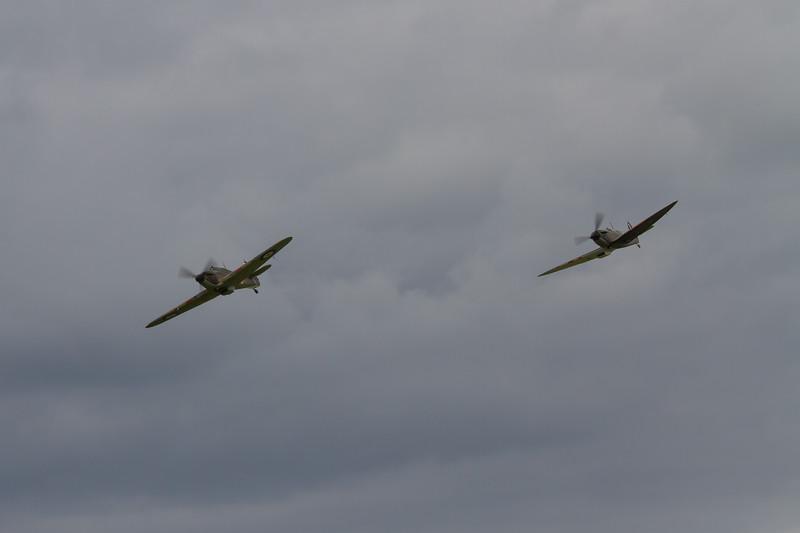 Hawker Hurricane Mk I and Supermarine Spitfire Mk.Ia
