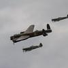 1945 - Avro Lancaster Mk 1 - Supermarine Spitfire Mk XVI - Supermarine Spitfire Mk LFIXe (Battle of Britain Memorial Flight)