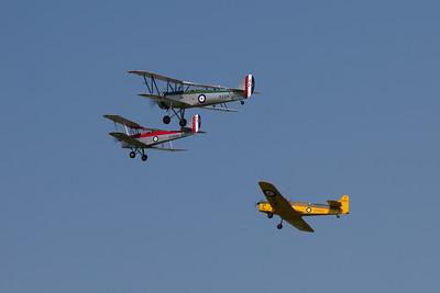 1933 - Avro Tutor / 1940 - de Havilland DH82a Tiger Moth / 1937 - Miles Magister