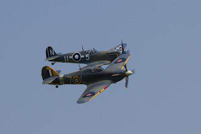1941 - Hawker Sea Hurricane 1B and  Supermarine Seafire MkIII PP972