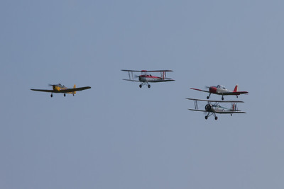 1933 - Avro Tutor / 1940 - de Havilland DH82a Tiger Moth / 1937 - Miles Magister / De Havilland Canada DHC-1 Chipmunk T10