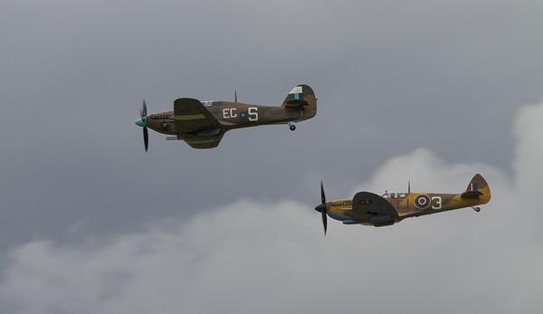 1944 Supermarine Spitfires LF.IXc and 1944 - Hawker Hurricane IIc